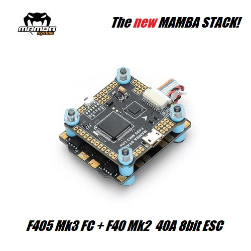 Mamba Stack F405 Mk3 LITE | FC + F40 Mk2 40A 8bit ESC