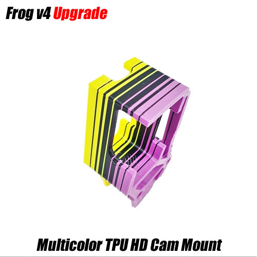Frog V4 TPU HD Cam Mount | MULTICOLOR