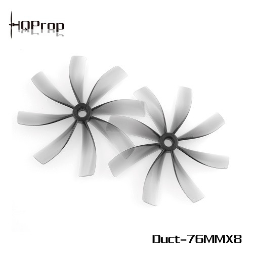 HQProp Duct-76MMX8 for Cinewhoop Grey (2CW+2CCW) | Poly Carbonate
