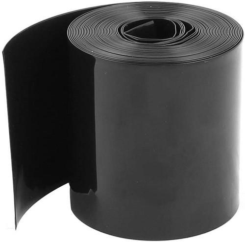 Heat Shrink Wrap Black PVC | for Li-Ion Battery Packs - 1 meter