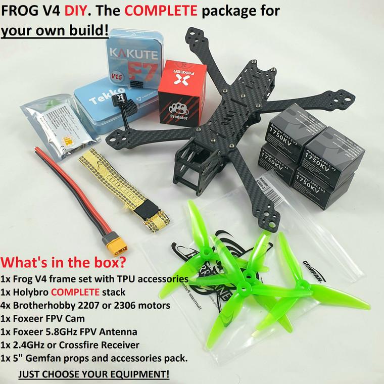 """Frog V4 5"""" DIY KIT 6S (Betaflight - FlightOne - Fettec)"""