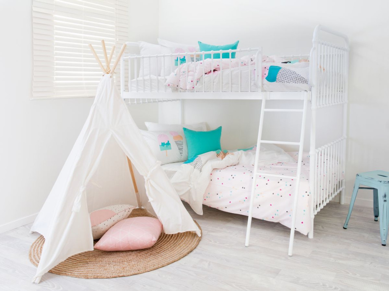 Picture of: Sonata Bunk Bed White Mocka Kids Beds Bunks