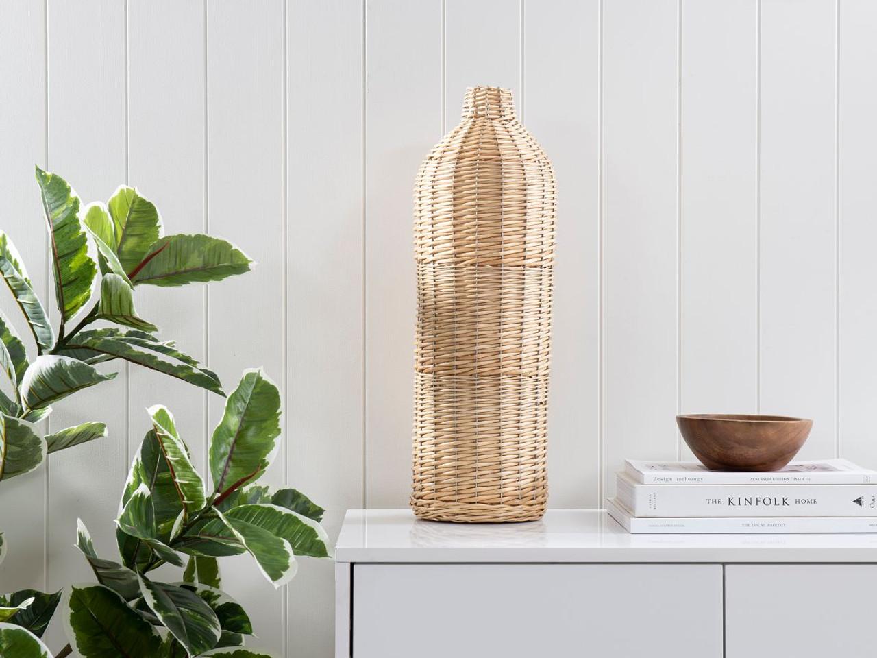 Nyria Rattan Vase Large Decor Baskets