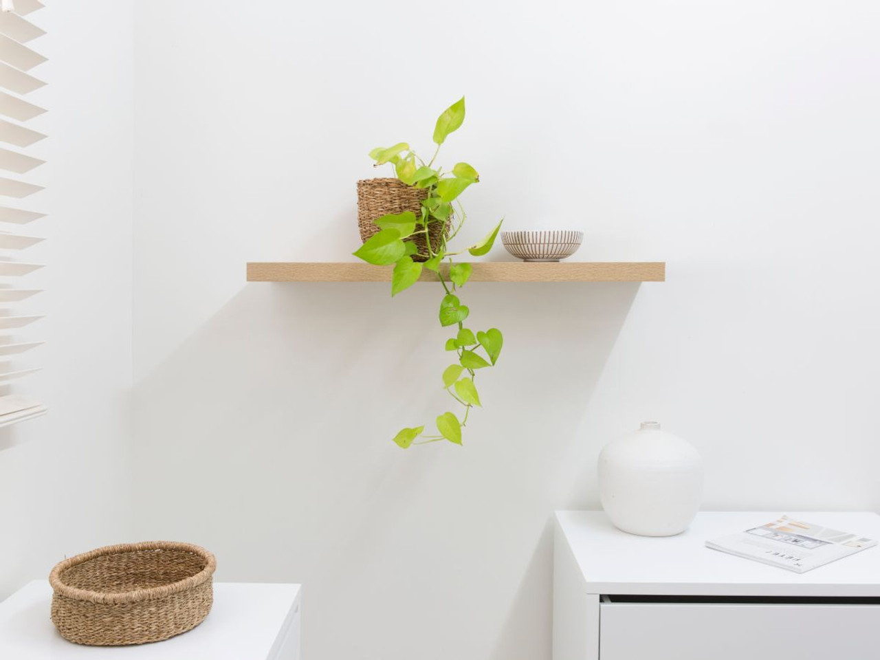 Mocka Floating Shelf Natural 2