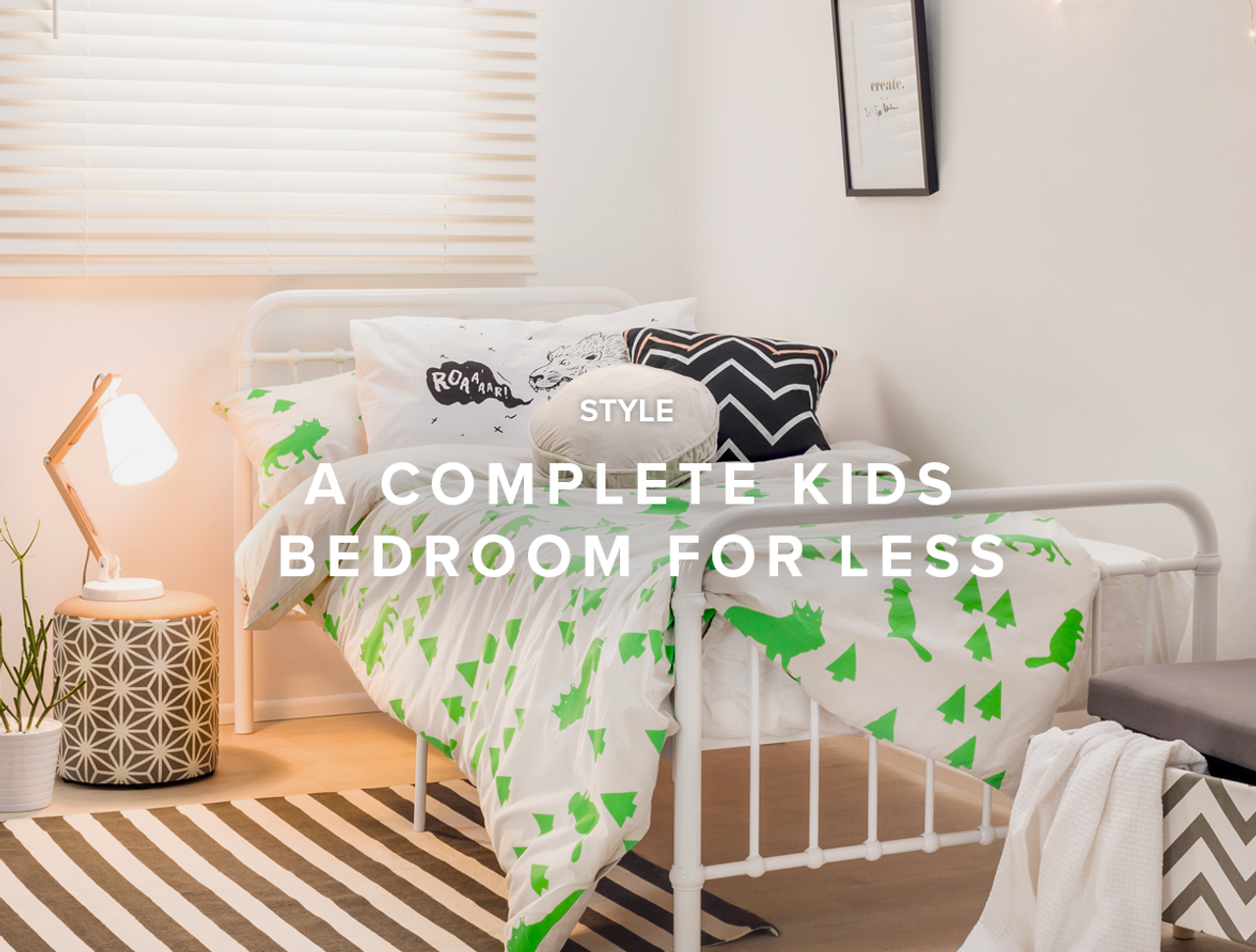 A Complete Kids Bedroom for Less