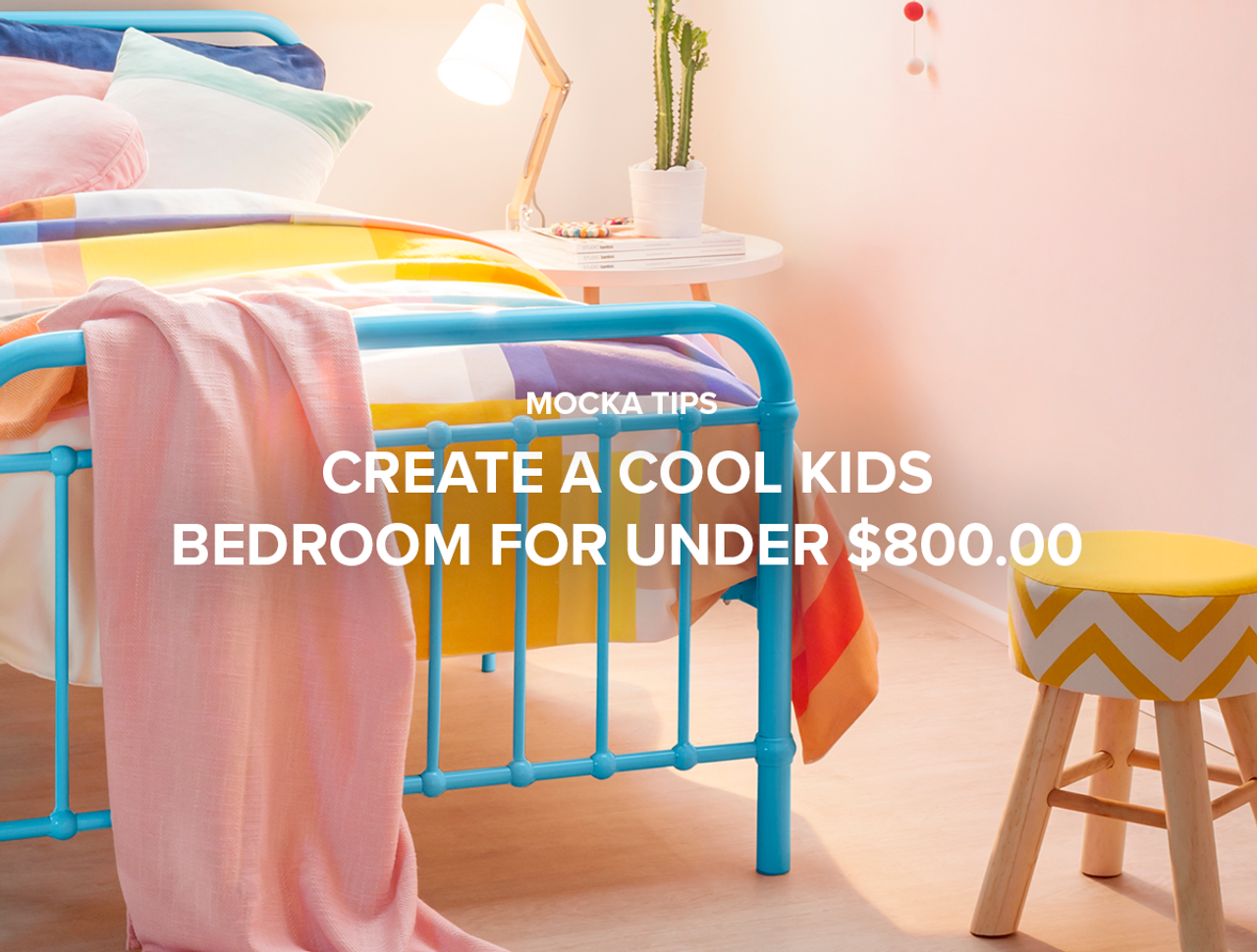 Create a Cool Kids Bedroom for Under $800