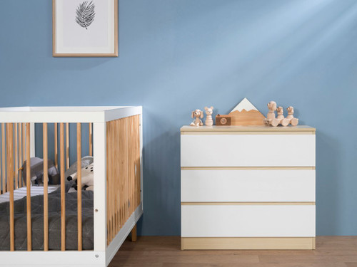 Jolt Three Drawer - Natural / White