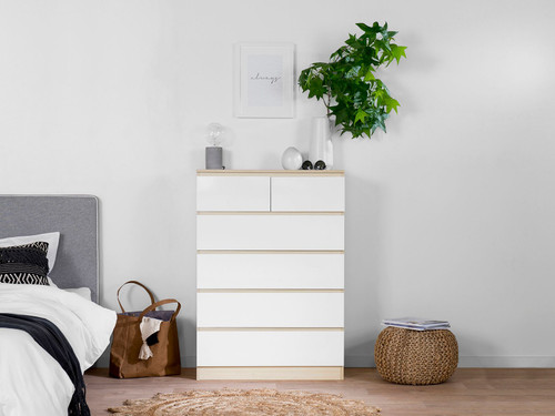 Jolt Tallboy Drawers - Natural / White