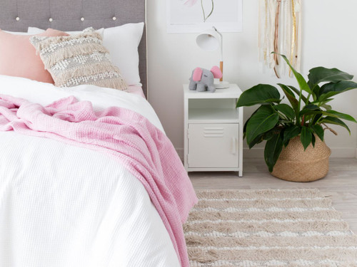 Locka Bedside Table - White