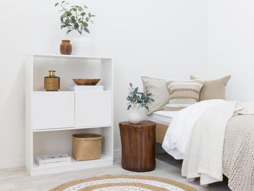 Mocka Essentials Small Bookcase - White