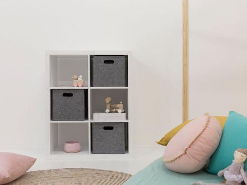 Luna 6 Cube Storage - White