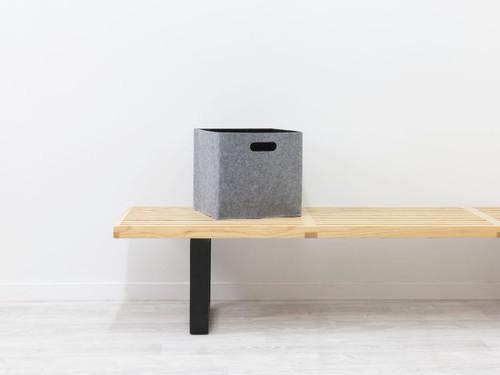 Felt Cube Basket - Grey