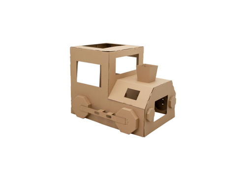 Cardboard Play and Colour - Train