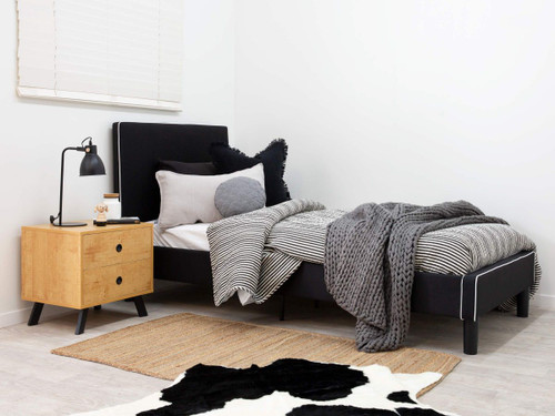 Darcy Bed - King Single - Black