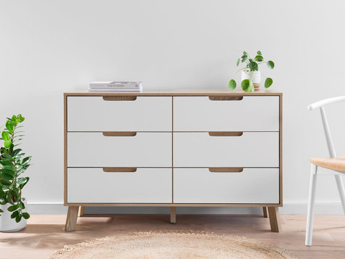 Chelsea Six Drawer - Wide