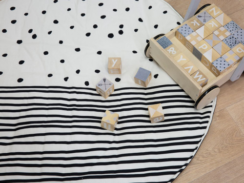 Mocka Play Mat - Spotty Stripe
