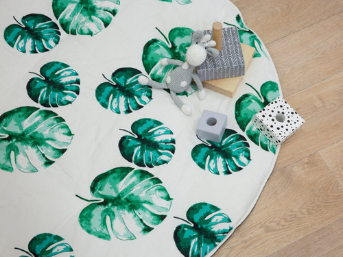 Mocka Play Mat - Green Leaves
