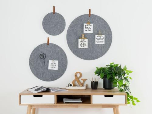 Elliot Pinboard - Set of 3 - Grey with tab