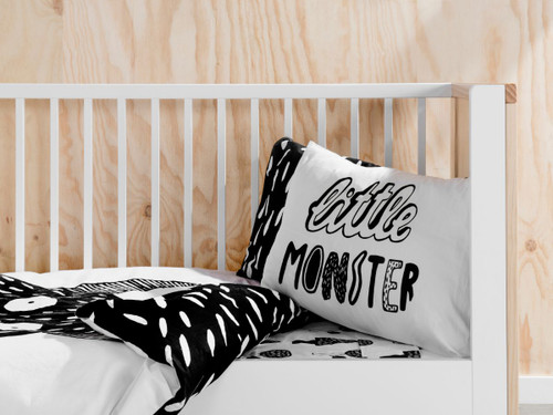 Little Monster Cot Quilt Cover Set
