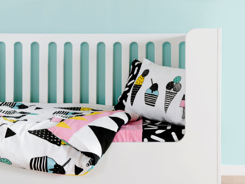 Ice Cream Cot Quilt Cover Set