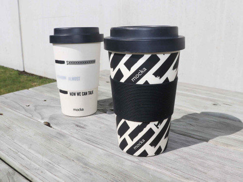 Bamboo Coffee Cup - Monochrome