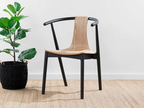 Winnie Chair - Black/Natural