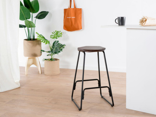 Vert Bar Stool - Black/Walnut - 2 pack