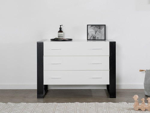 Boston Three Drawer - White/Black