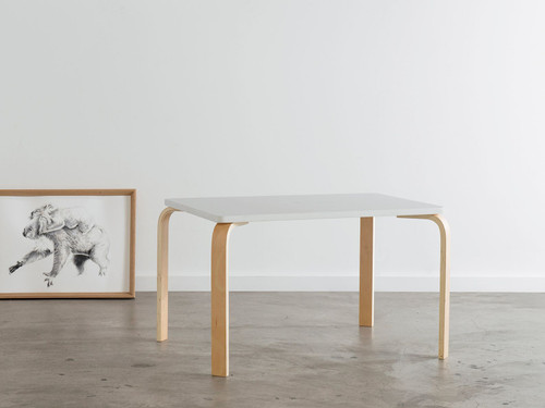 Hudson Mini Table - White/ Natural