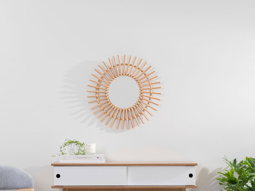 Wicker Mirror - Medium - Natural