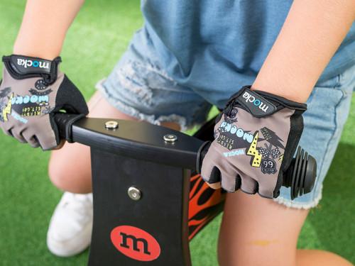 Kids Bike Gloves - Grey