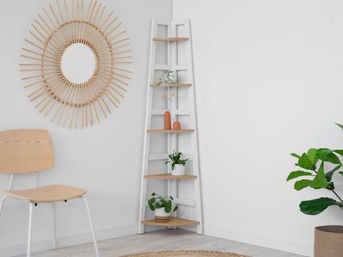 Porto Corner Shelves - White