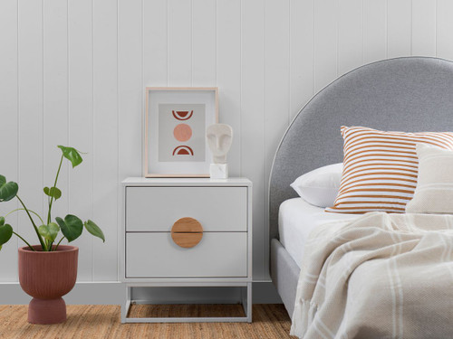 Eclipse Bedside Table - White