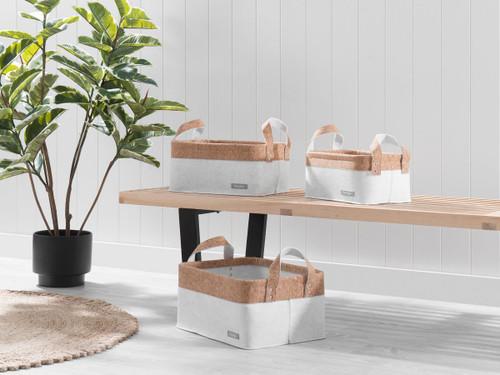 Loryn Baskets - Set of 3 - White