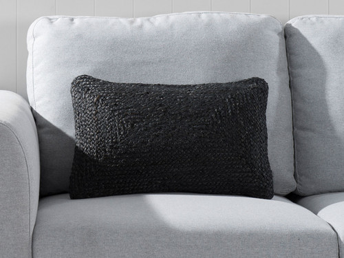 Buddina Cushion Cover - Oblong - Black