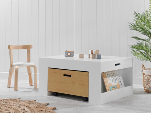Kids Activity Play Table - White/Natural
