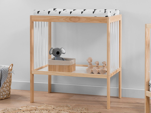 Darby Change Table - Natural/White