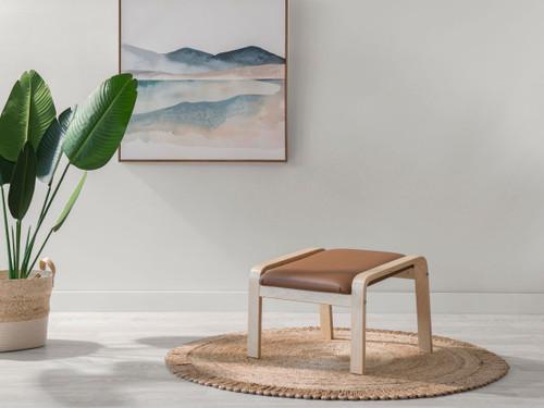 Asta Luxe Footstool - Tan