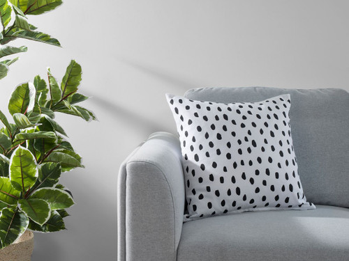 Kiara Spot Cushion Cover - Black