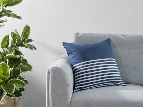 Bedford Stripe Cushion Cover - Ink