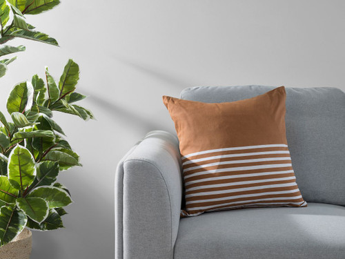 Bedford Stripe Cushion Cover - Rust