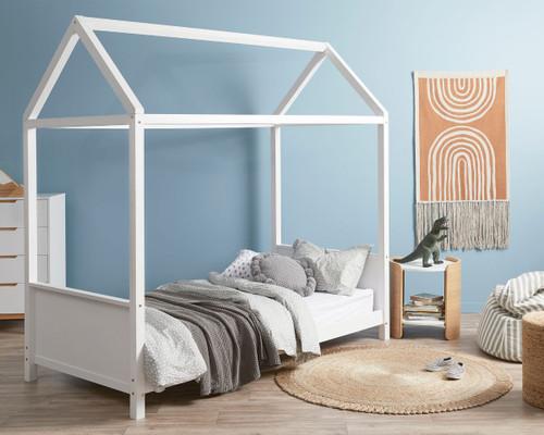 Finn House Bed - Single - White
