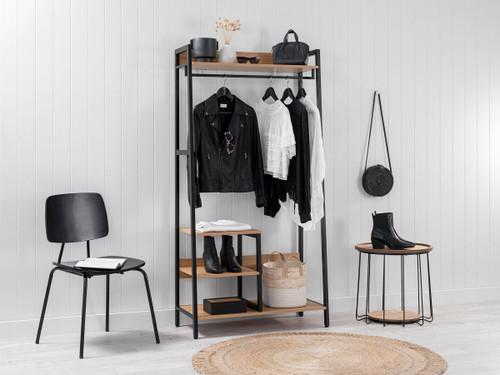 Porto Storage With Shelf - Black
