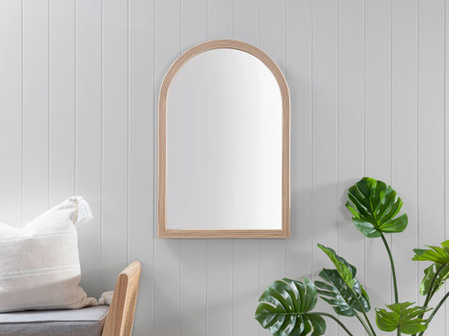 Juniper Rattan Arch Mirror