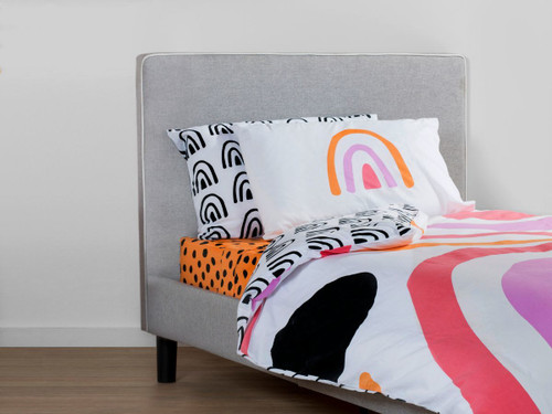 Rainbow Quilt Cover Set - King Single