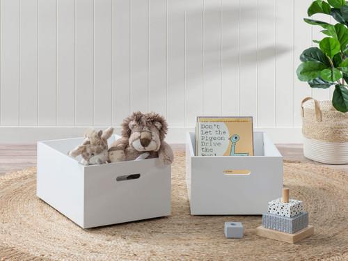 Noah Play Boxes - Set of 2 - White