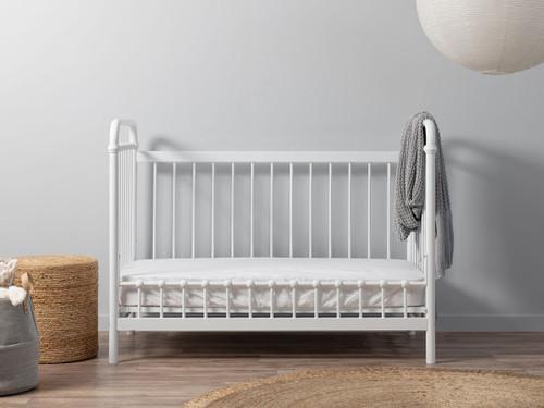 Sonata Cot Toddler Bed Conversion - White