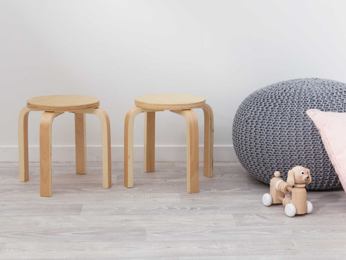 Hudson Kids Stools - Set of 2 - Natural