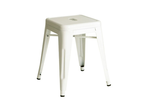 Industrial Stool - Small - White