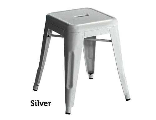 Industrial Stool - Small - Silver